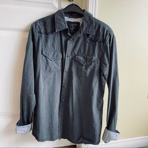 (2 For $35) Guess grey regular dress shirt in Small